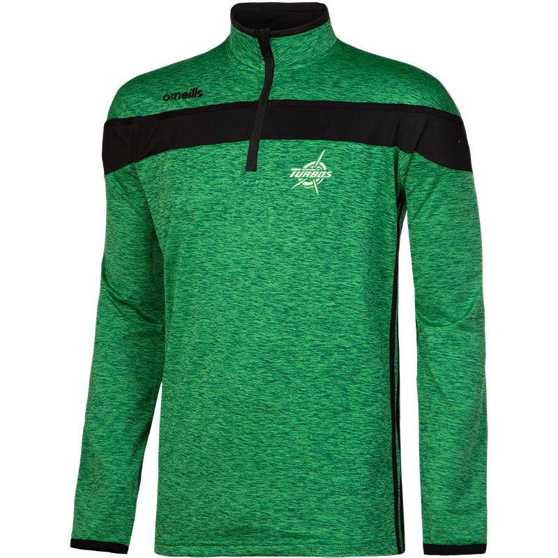 Manawatu Rugby Club Kids' Auckland Half Zip Brushed Top (Turbo)
