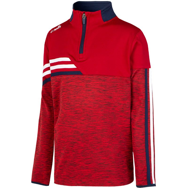 Kids' Nevis Brushed Half Zip Top Red / White