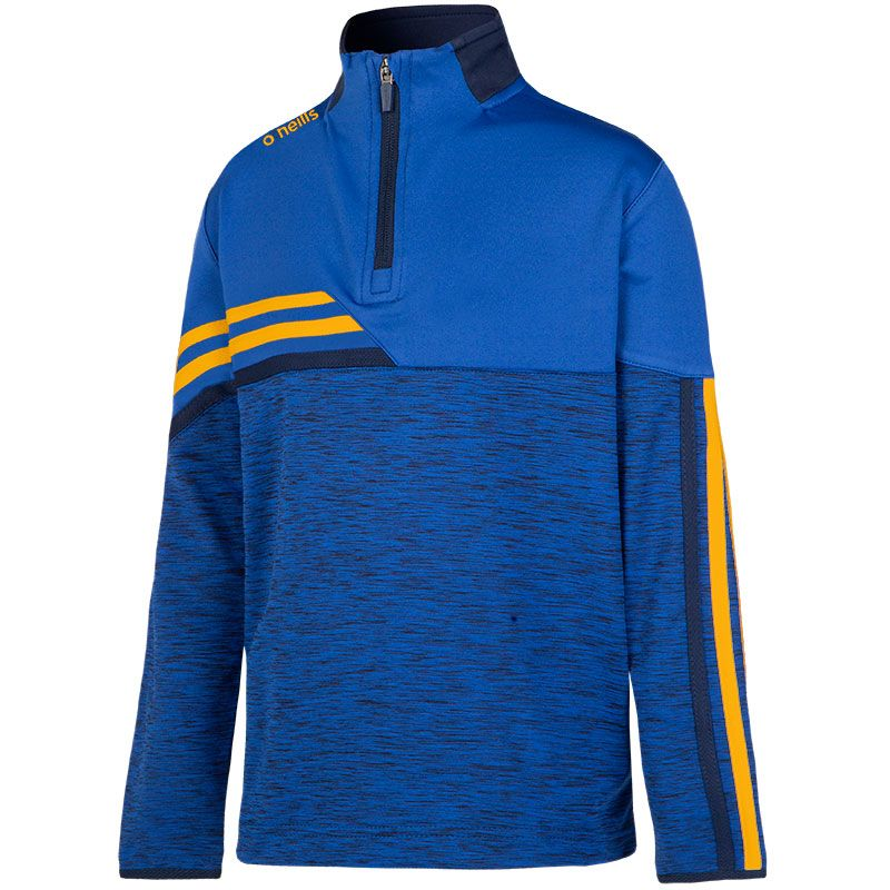 Kids' Nevis Brushed Half Zip Top Blue / Yellow