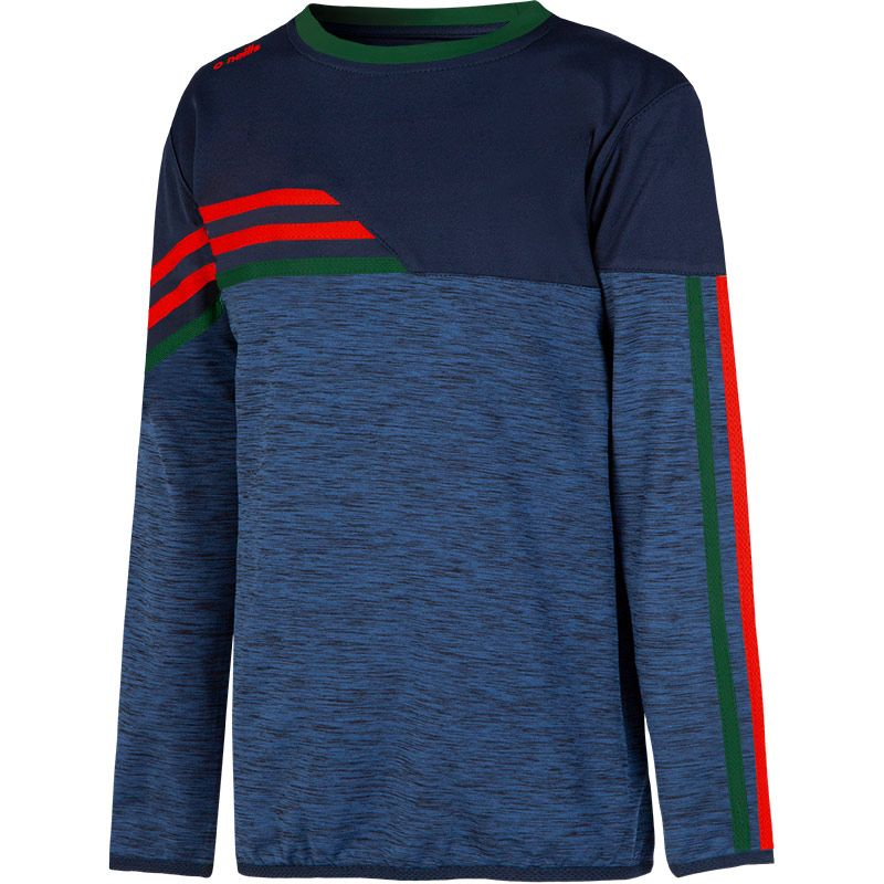 Kids' Nevis Brushed Sweatshirt Marine / Bottle / Red