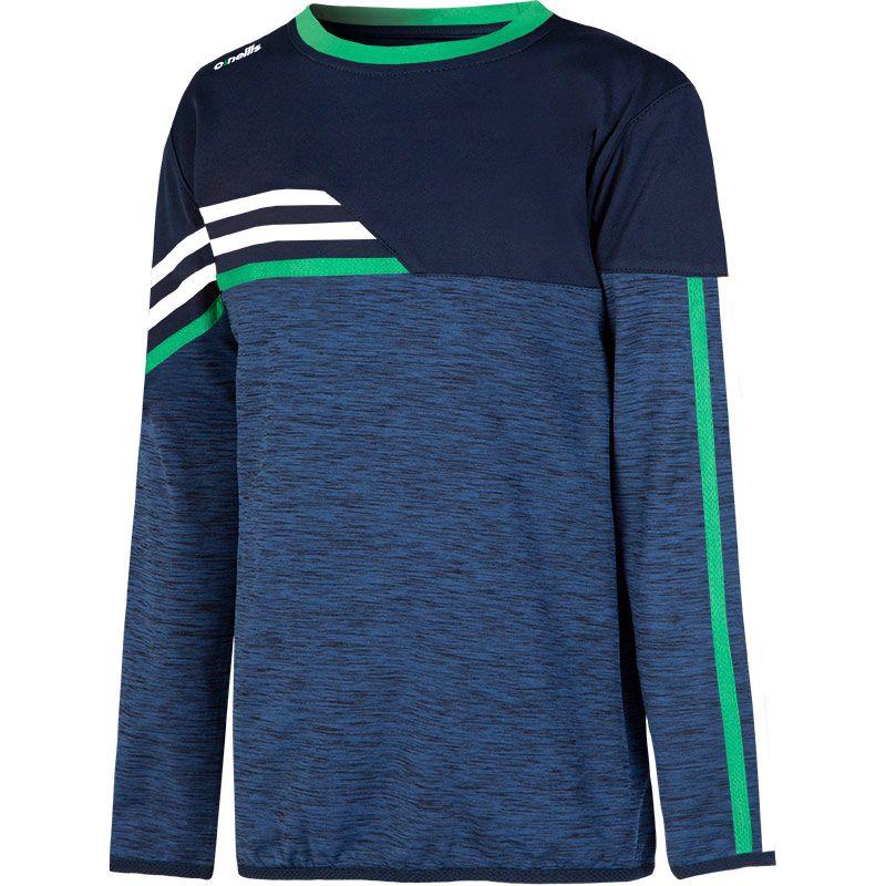 Kids' Nevis Brushed Sweatshirt Marine / Green / White