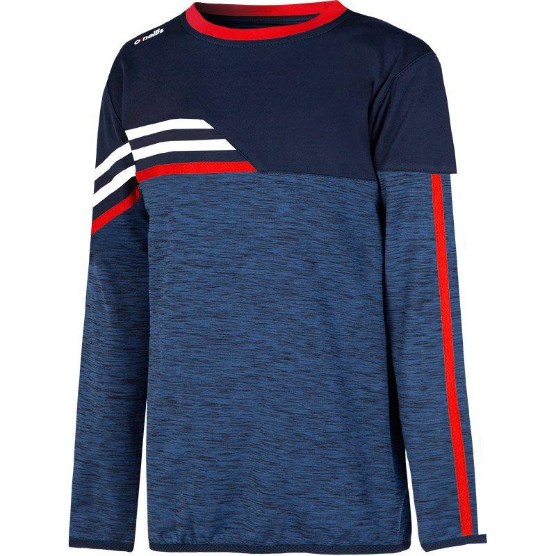 Kids' Nevis Brushed Sweatshirt Marine / Red / White