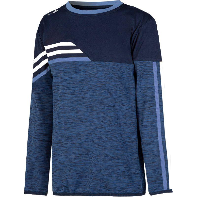 Kids' Nevis Brushed Sweatshirt Marine / Sky / White