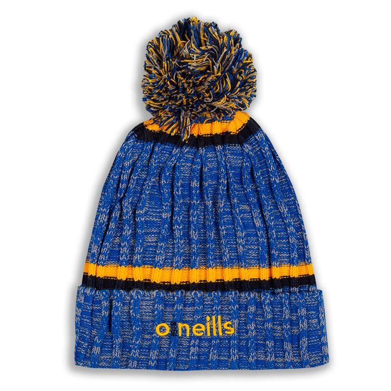 Kids' Nevis Bobble Hat Marl Tonal Royal / Amber / Marine