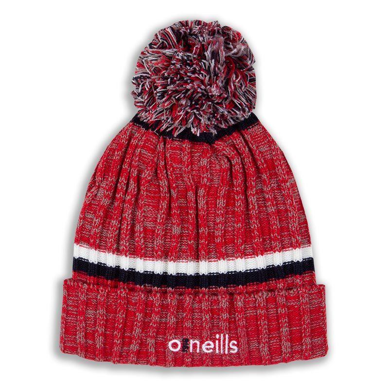 Kids' Nevis Bobble Hat Marl Tonal Red / White / Marine
