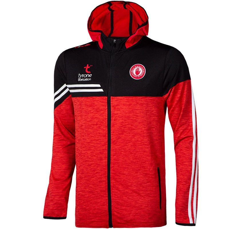 Tyrone GAA Kids' Nevis Brushed Full Zip Hoodie Red / Black / White