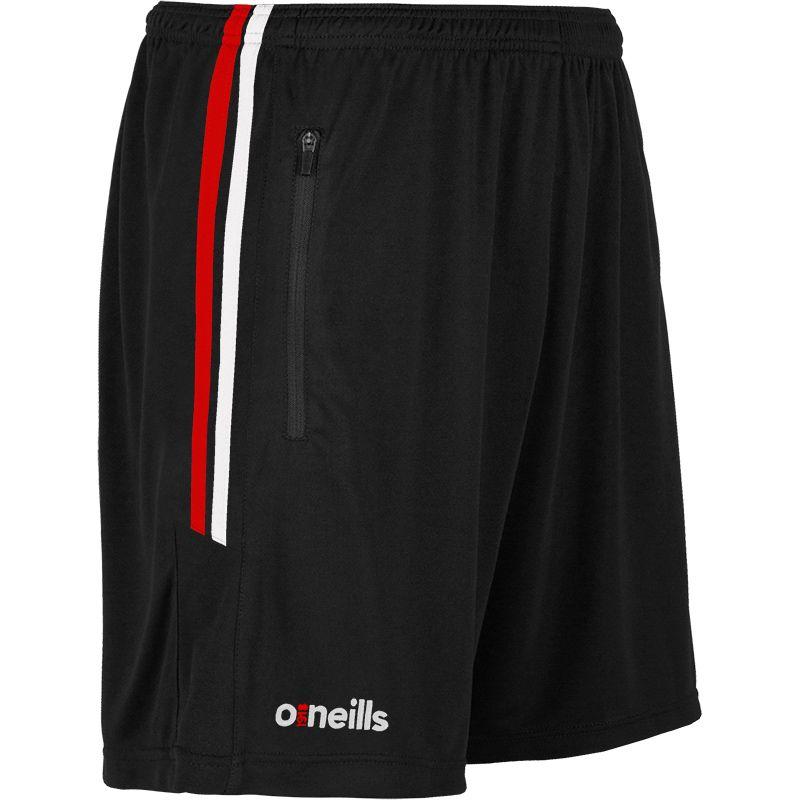 Kids' Nevis Training Shorts Black / Red / White