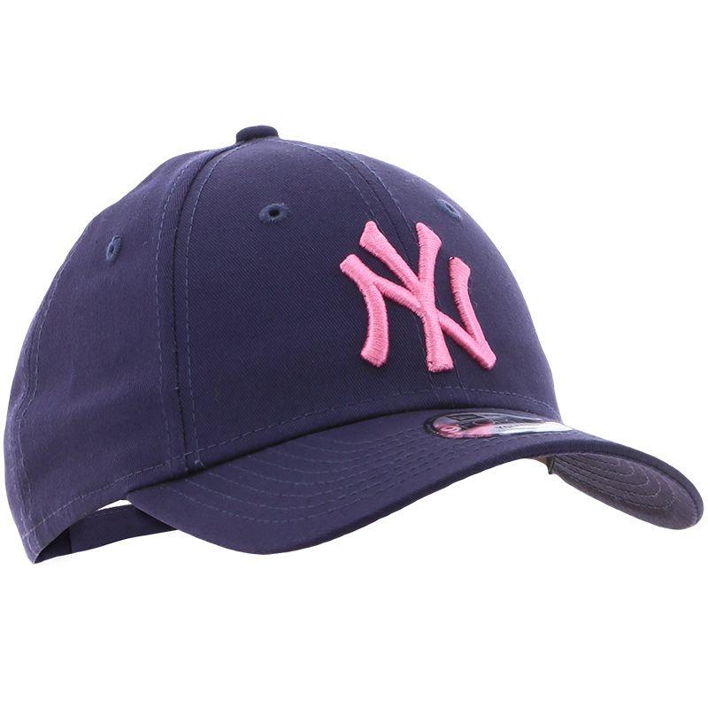 New Era 9FORTY New York Yankees Junior Baseball Cap Navy / Pink