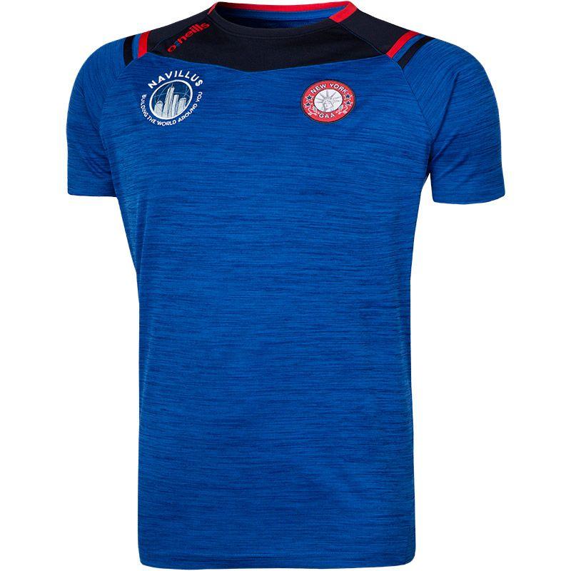 New York Colorado T-Shirt (Melange Tonal Royal/Marine/Red)