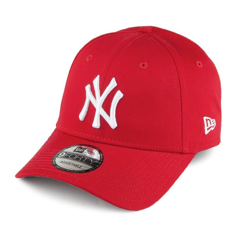 New Era 9FORTY New York Yankees Baseball Cap Red