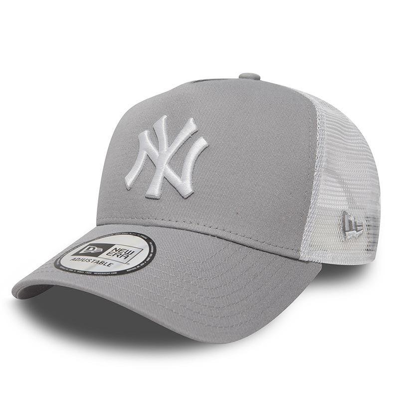 New Era New York Yankees Clean A Frame Trucker Baseball Cap Grey