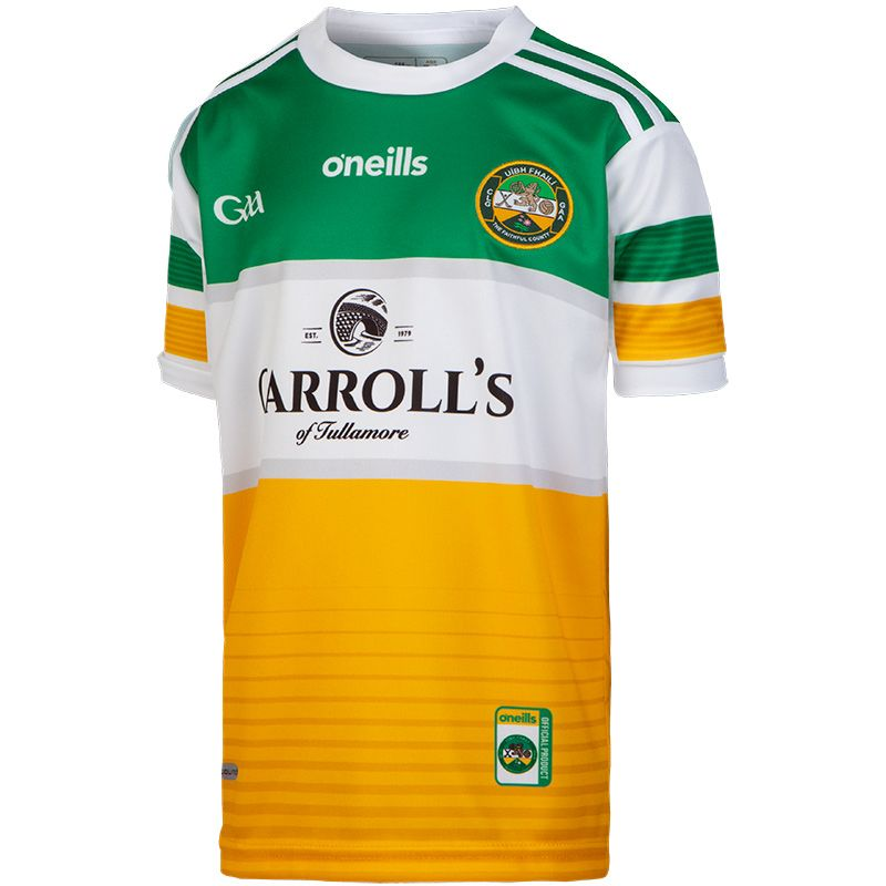 Offaly GAA Kids' 2-Stripe Home Jersey