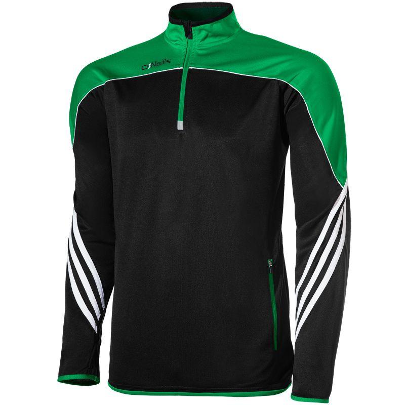 Parnell Squad Half Zip Training Top (Black/Emerald/White) (Kids)