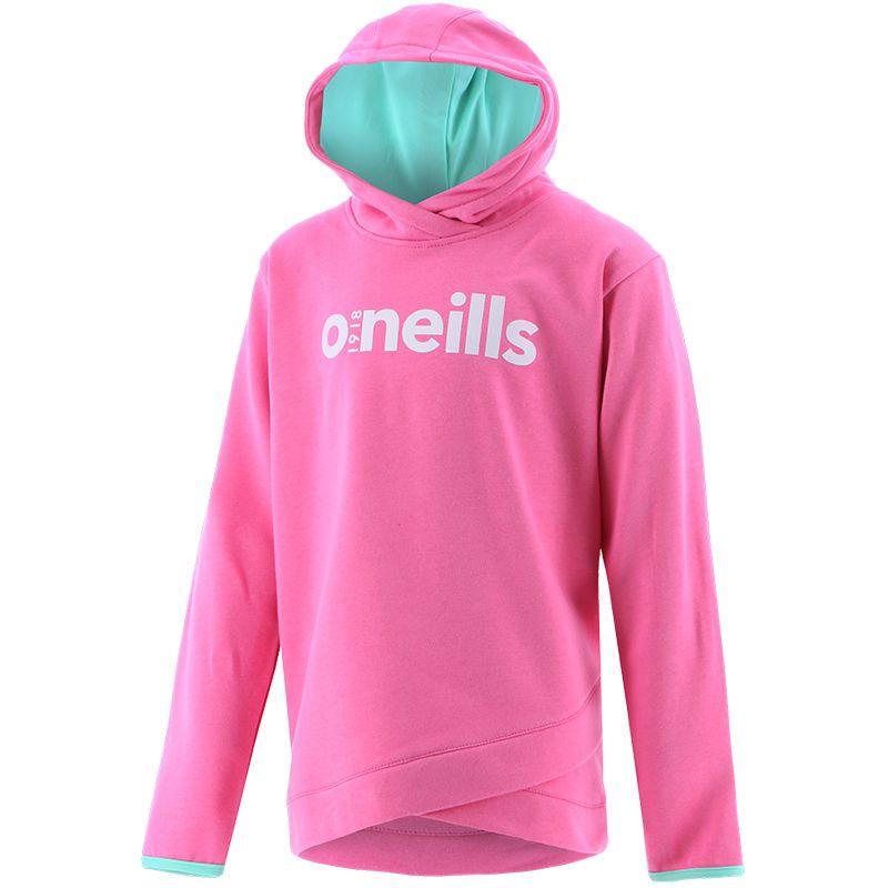 Kids' Penelope Overhead Fleece Hooded Top Pink / Green / White