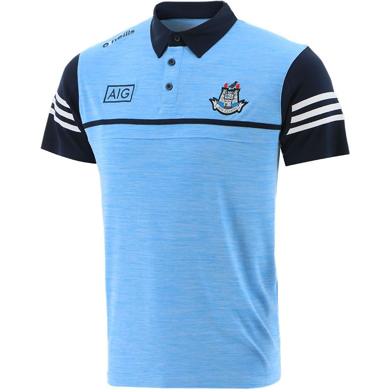 Dublin GAA Men's Bolton Polo Shirt Sky / Marine / White