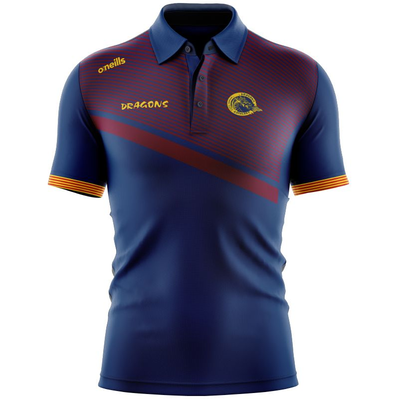 Catalans Dragons Rugby Polo (Navy/Maroon/Amber)