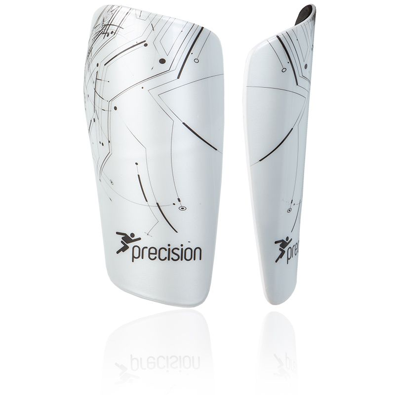 Sleeve Shinpad Guard White//Black Precision Pro Matrix Football Shinguard