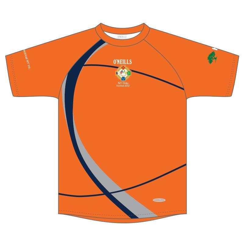 NY Boys Football Féile Printed T-Shirt (Orange)