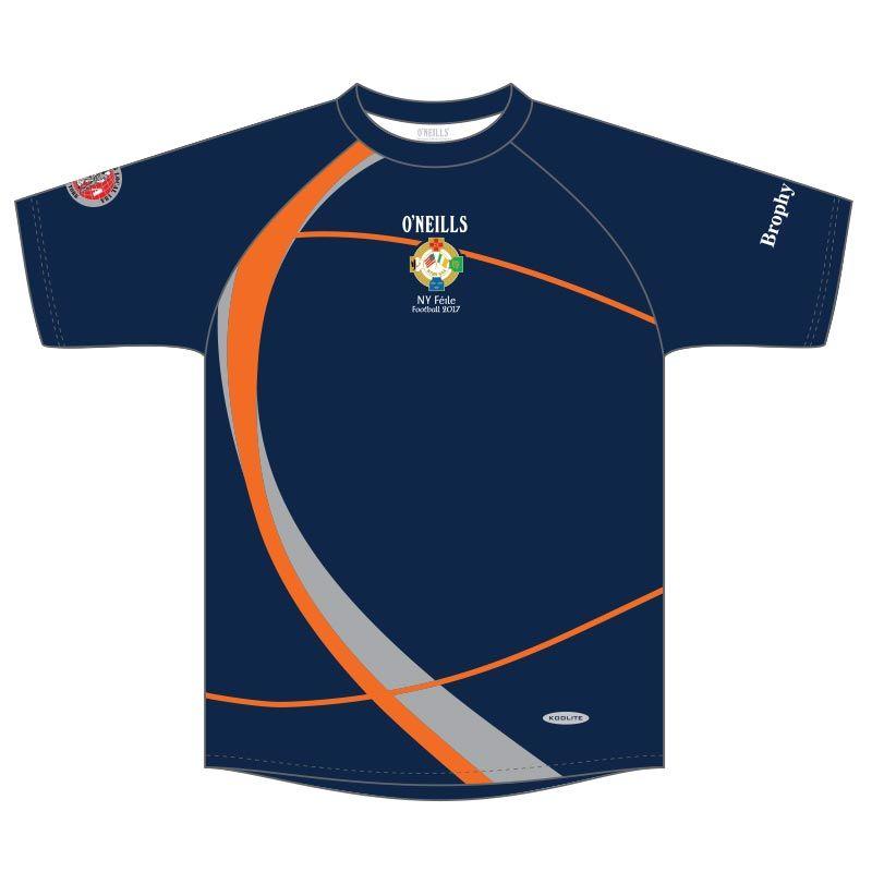 NY Boys Football Féile Printed T-Shirt (Navy) (Kids)