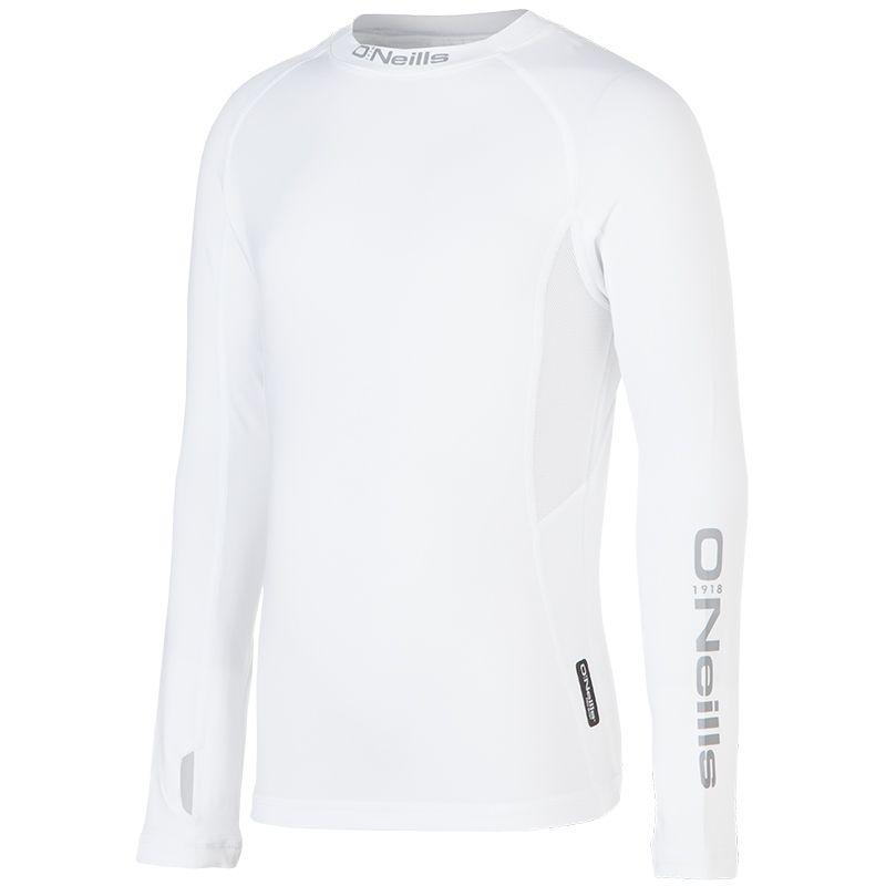 Kids' Pro Body Fleece Lined Baselayer Top White