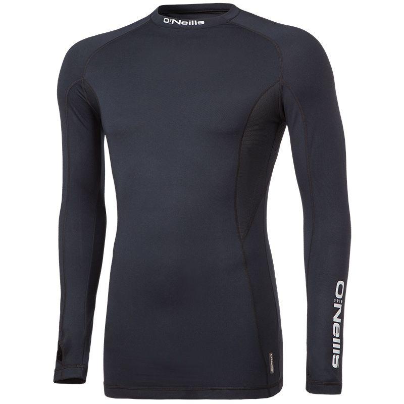 Kids' Pro Body Baselayer Long Sleeve Top Black / Reflective Silver