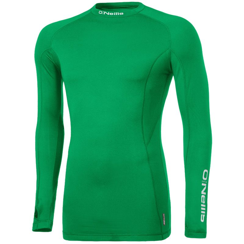 Kids' Pro Body Baselayer Long Sleeve Top Emerald / Reflective Silver)