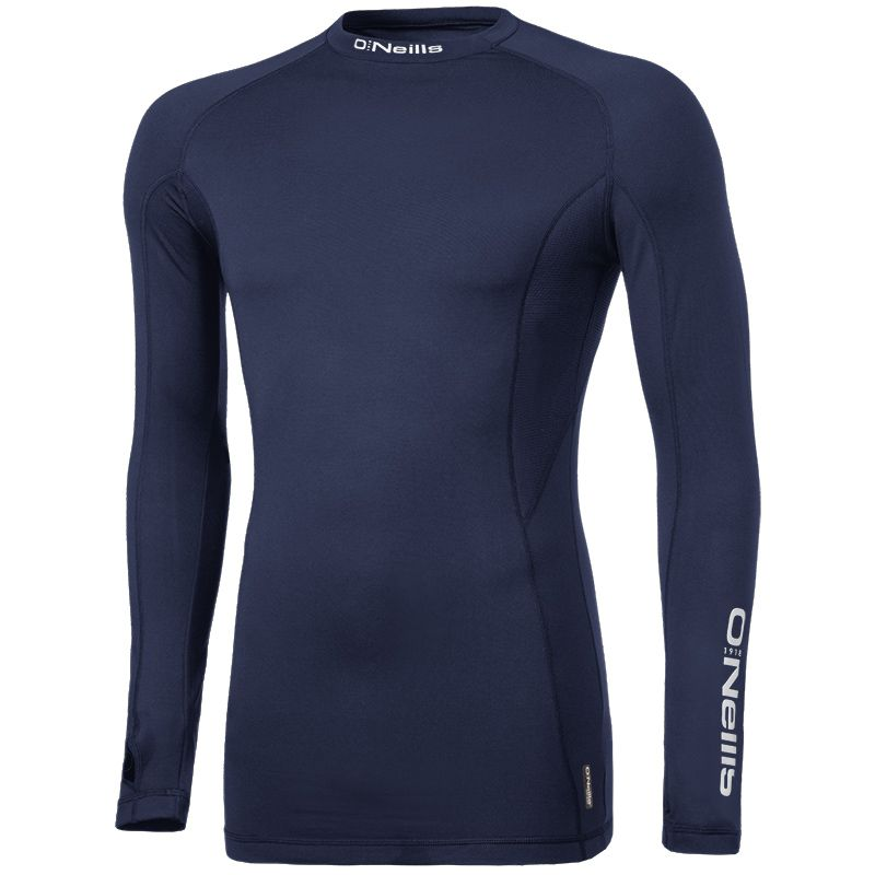 Pro Body Baselayer Long Sleeve Top (Marine/Reflective Silver)