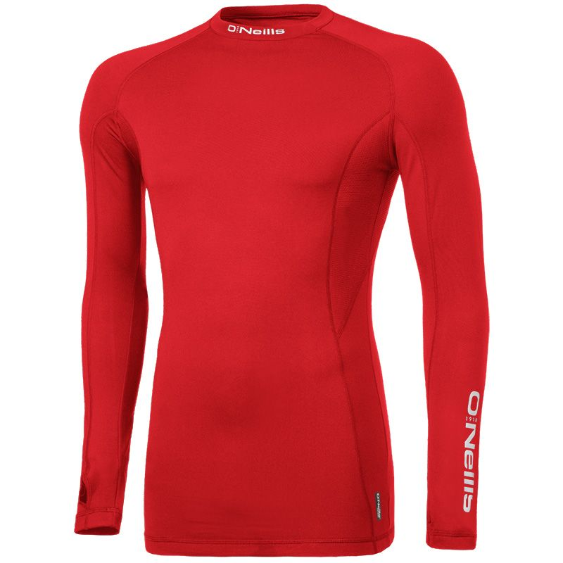Pro Body Baselayer Long Sleeve Top (Red/Reflective Silver) (Kids)