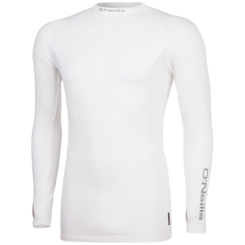 Pro Body Baselayer Long Sleeve Top White / Reflective Silver