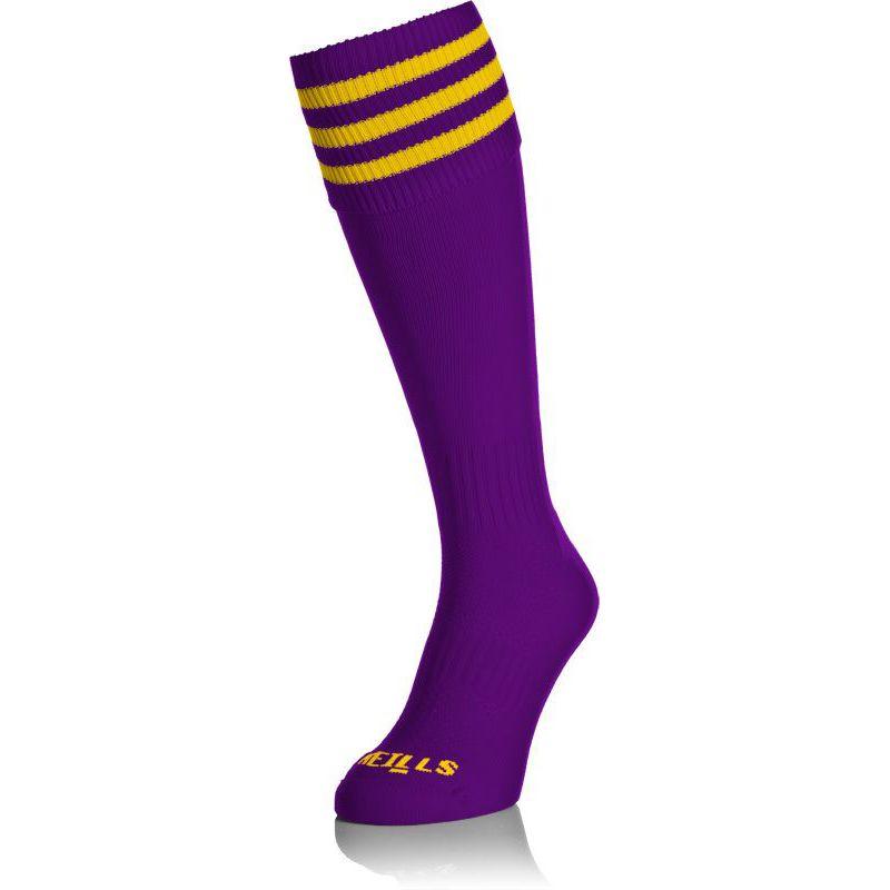 Kids' Premium Socks Bars Purple / Amber