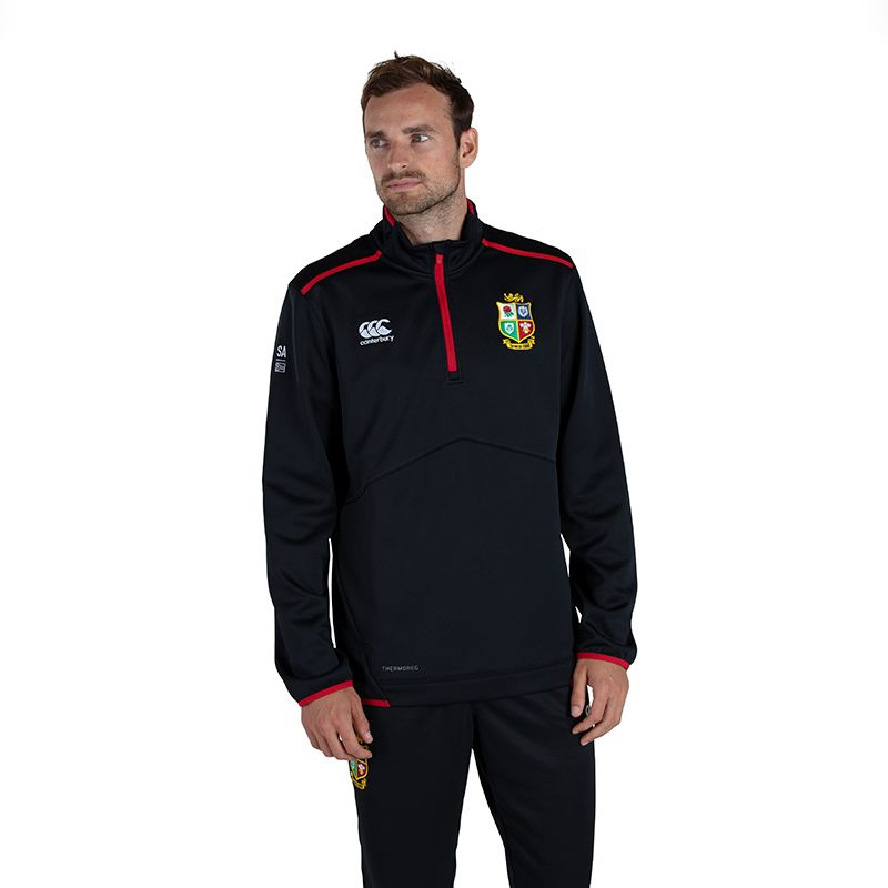 Canterbury British and Irish Lions Thermoreg Quarter Zip Fleece Polaire Homme