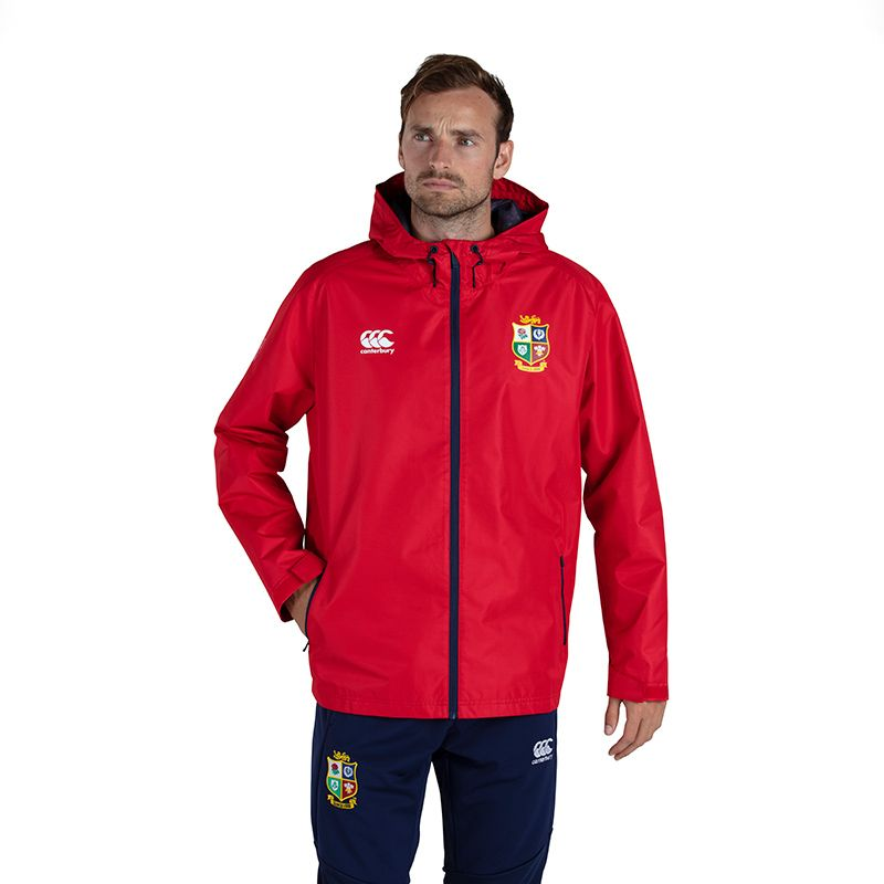 Canterbury British and Irish Lions Men's Water Resistant Jacket Tango Red