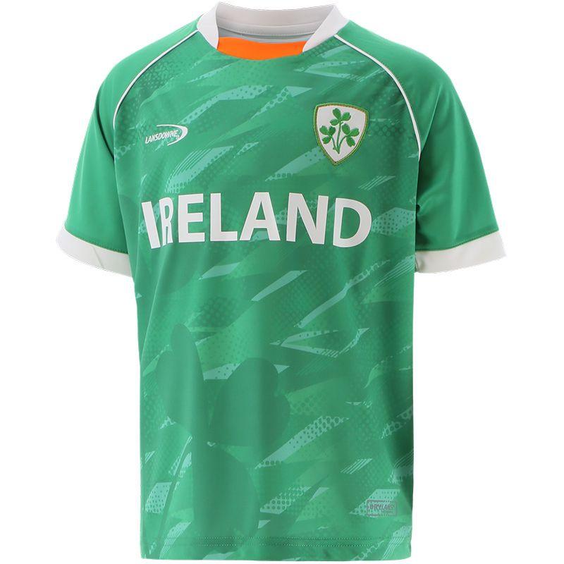 Lansdowne Ireland Kids' Shamrock Sublimated Performance T-Shirt Emerald