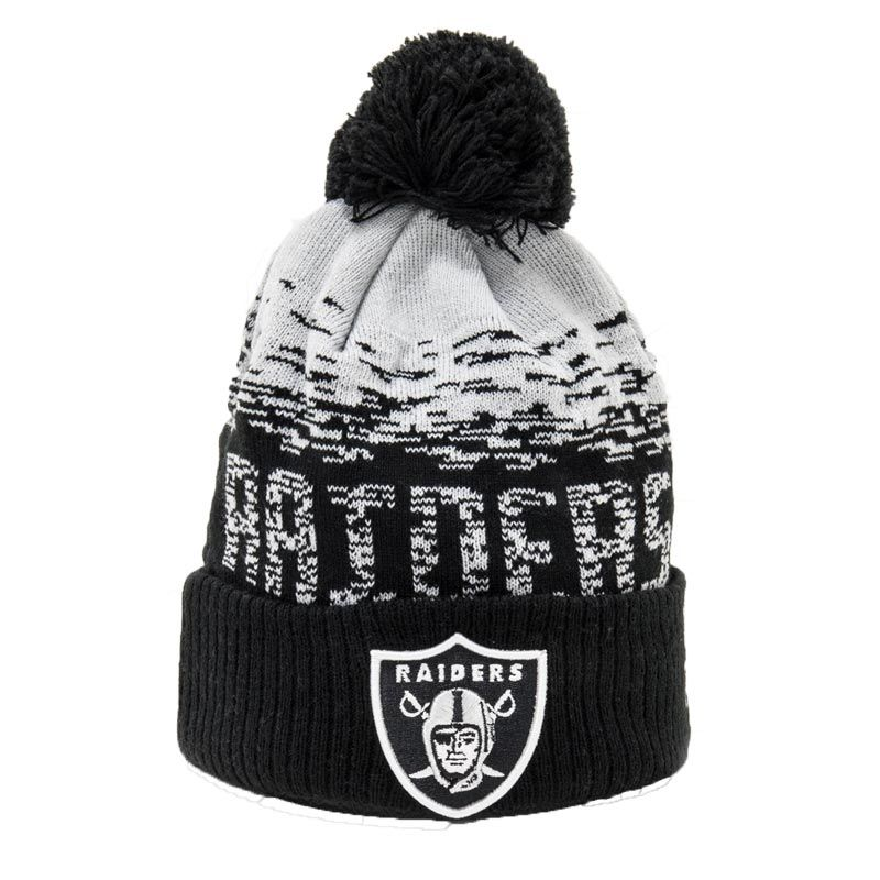 New Era NFL Oakland Raiders Knit Bobble Hat