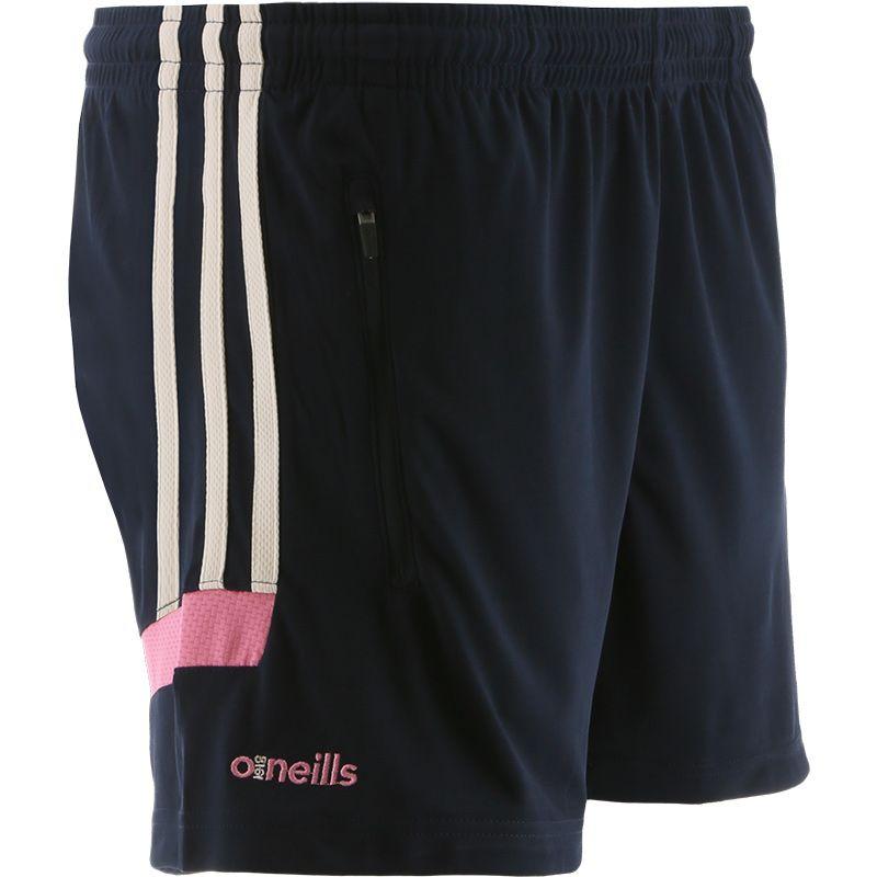 Women's Raven Training Shorts Marine / Beige / Pink