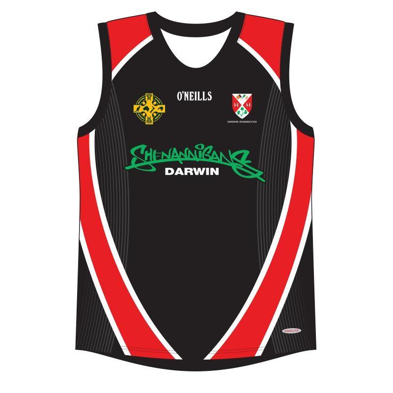 Darwin Shamrocks GAA Vest (Red/Black)