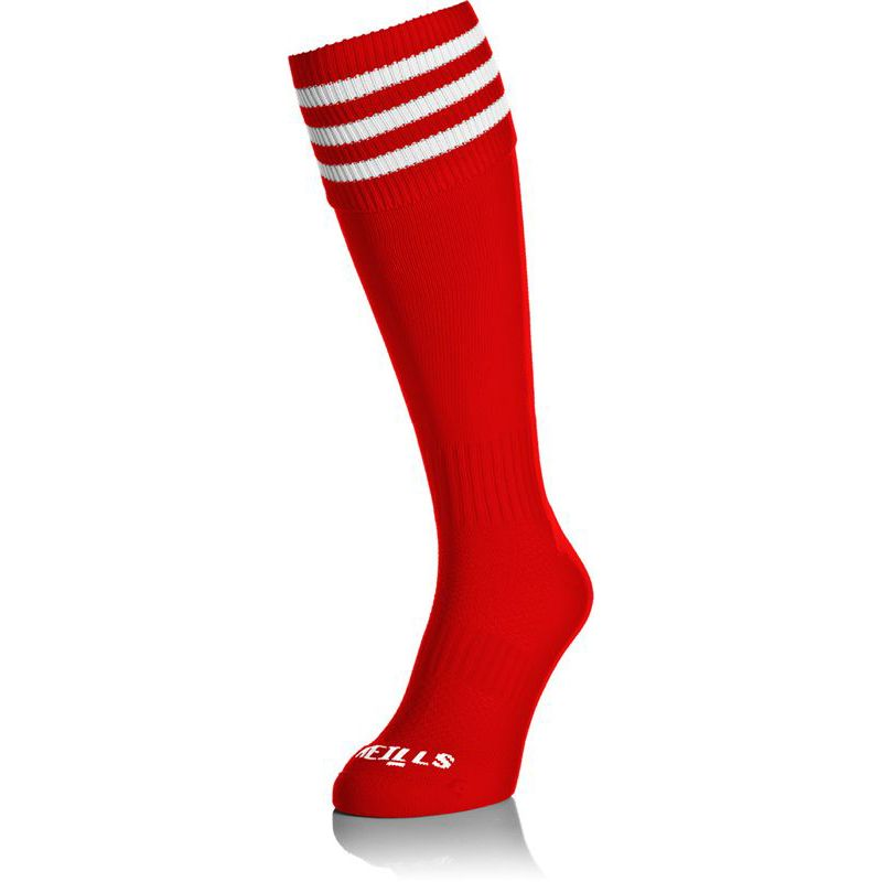 Premium Socks Bars Red / White