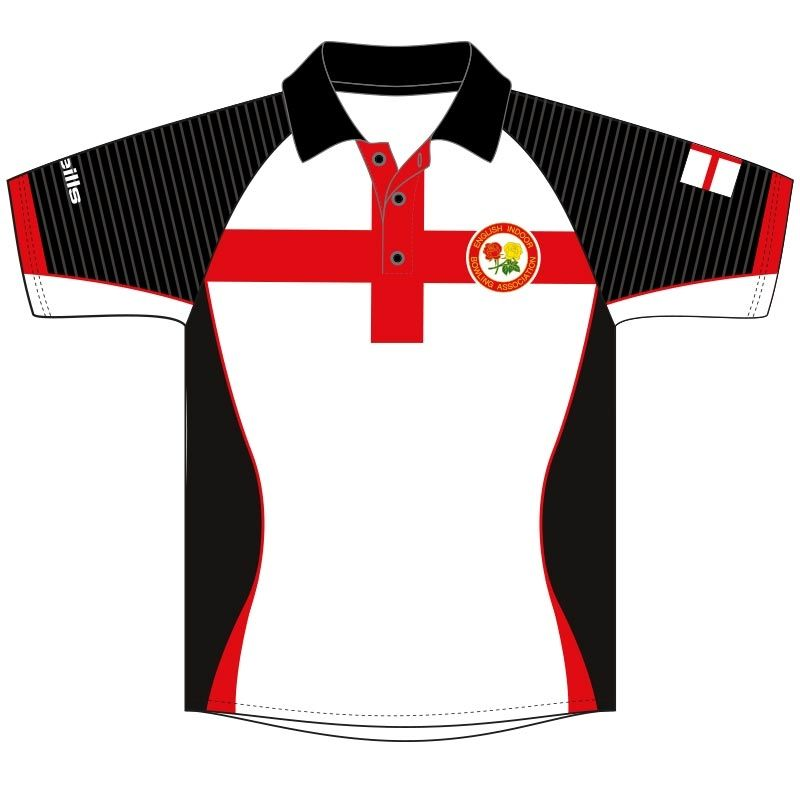England Indoor Bowls Association Replica Match Jersey