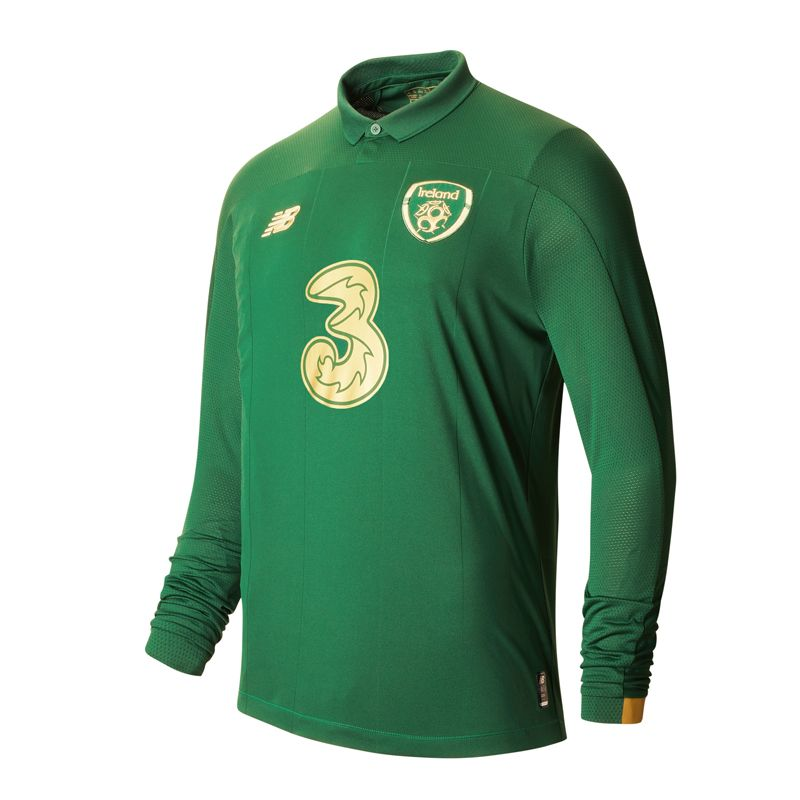 New Balance Republic of Ireland 2019/20 Adults Long Sleeve Home Jersey