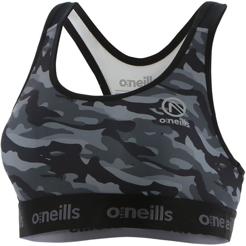 Women's Riley Sports Bra Camouflage Black