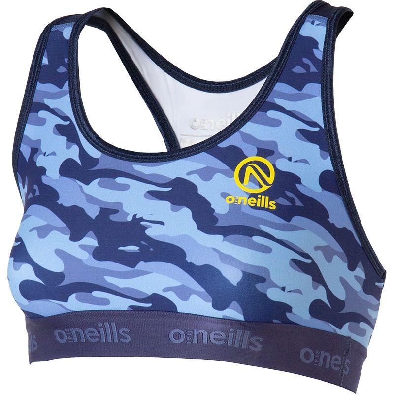 Women's Riley Sports Bra Camouflage Blue