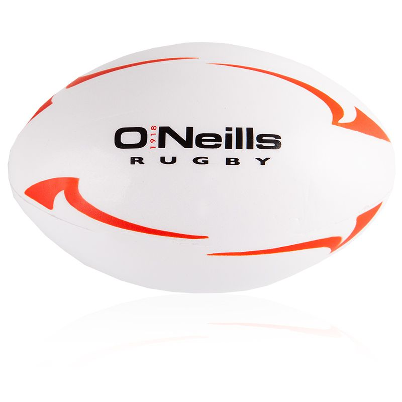 O'Neills Rugby Stress Ball (White/Red)