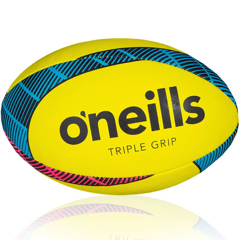 Triple Grip Rugby Ball Florescent Yellow