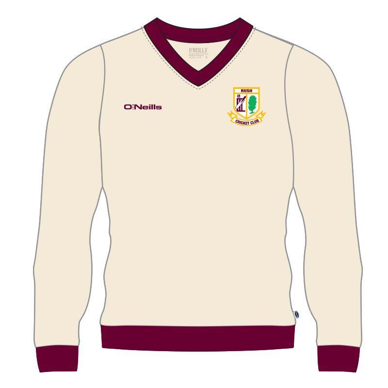 Rush Cricket Club Long Sleeve Slipover (Cream) (Kids)