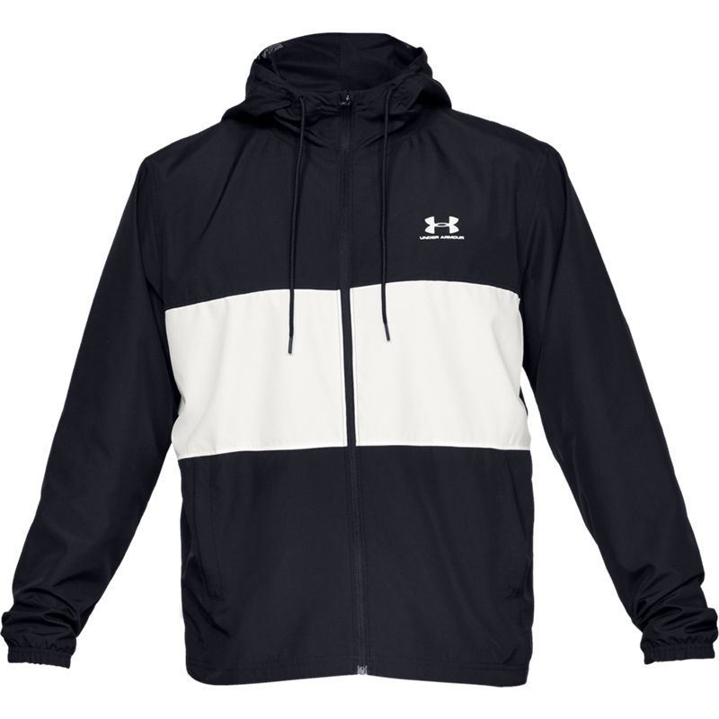 Men's Under Armour Sportstyle Wind Jacket Black / Onyx White