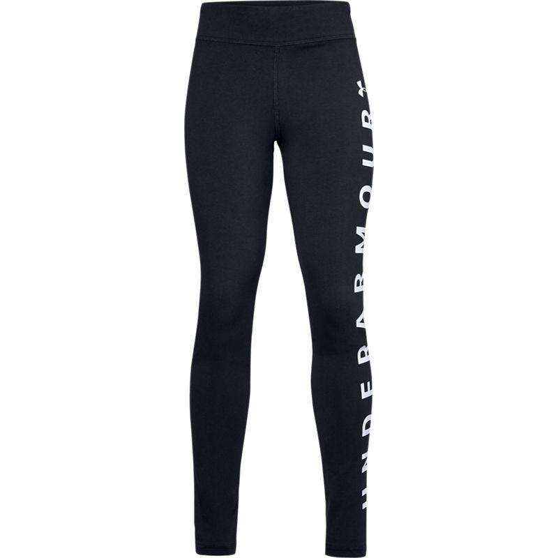Kids' Under Armour Sportstyle Branded Leggings Black / White