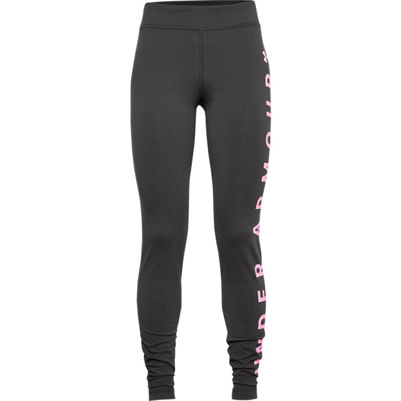 Kids' Under Armour Sportstyle Branded Leggings Jet Gray / Pink Craze