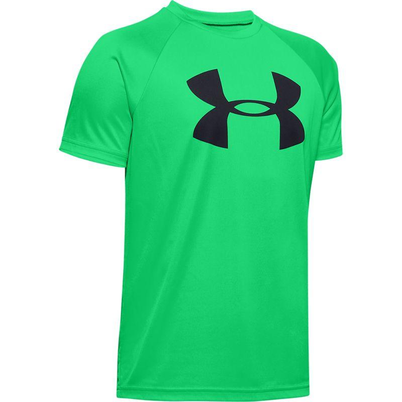 Kids' Under Armour Tech Big Logo SS T-Shirt Vapor Green / Black