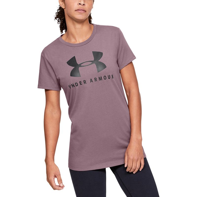 Women's Under Armour Graphic Sportstyle Classic Crew T-Shirt Hushed Pink