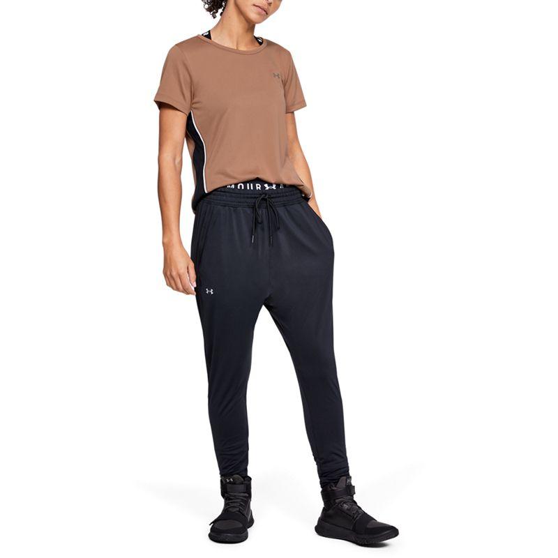 Women's Under Armour Tech Colour Block Short Sleeve T-Shirt Brown